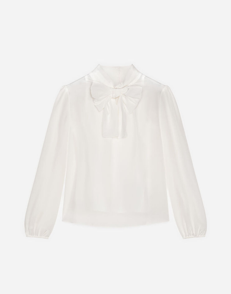 Blusa In Crepe De Chine - Dolce & Gabbana Junior