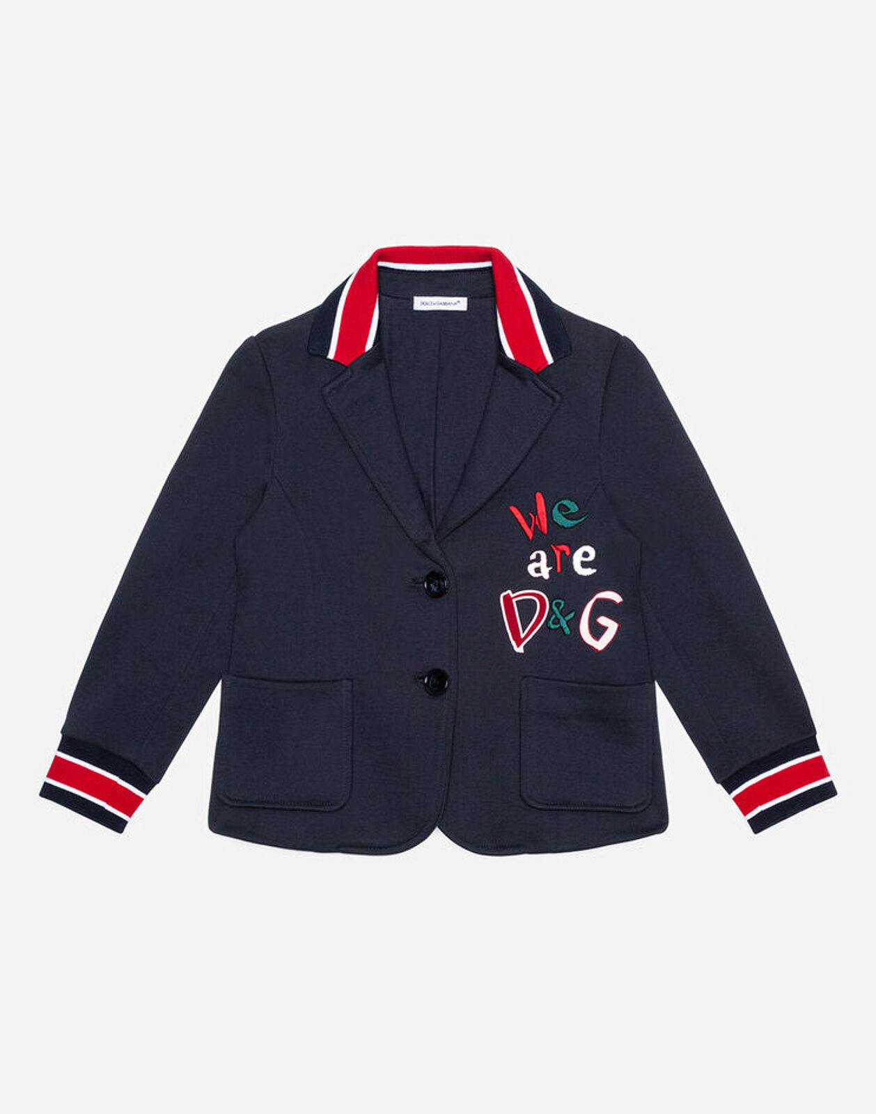 Giacca In Jersey Ricami D&G - Dolce & Gabbana Junior