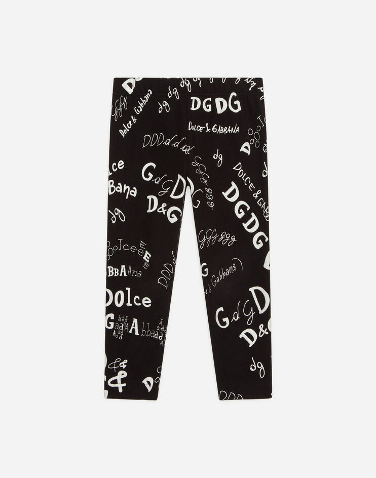 Leggings In Interlock Stampa Logo - Dolce & Gabbana Junior