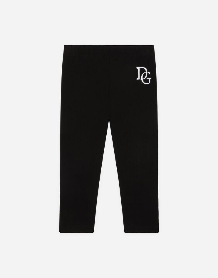 Leggings In Interlock Con Patch Logo - Dolce & Gabbana Junior