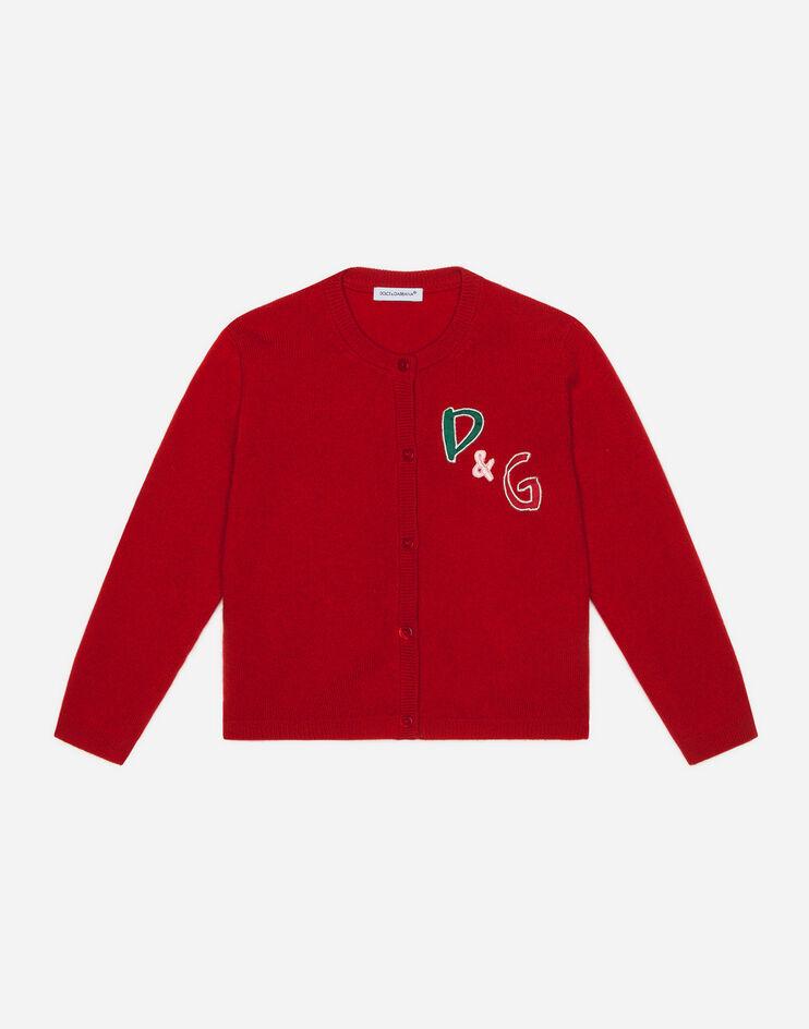 Cardigan In Cashmere Patch D&G - Dolce & Gabbana Junior