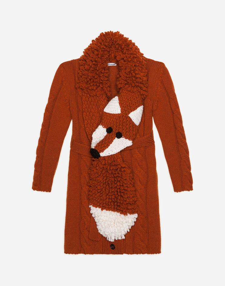 Cardigan Lungo In Cashmere - Dolce & Gabbana Junior