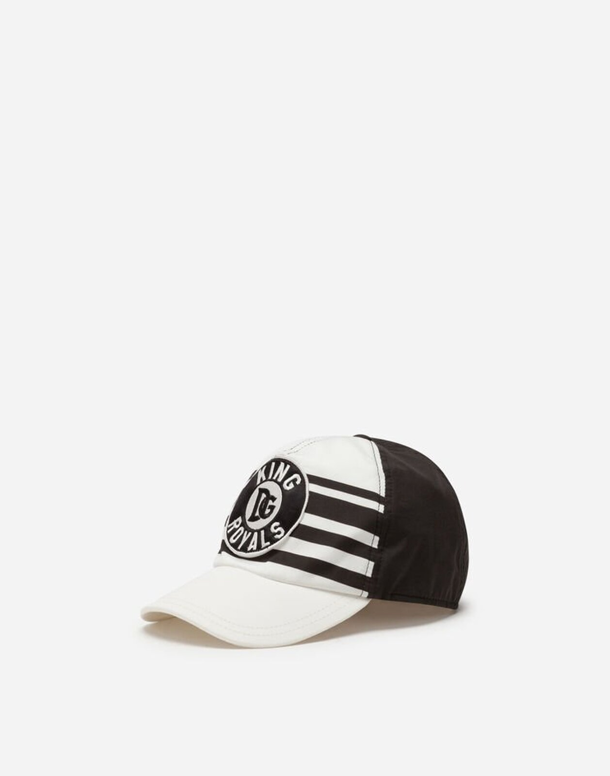 Cappello Da Baseball In Popeline Patch Dna - Dolce & Gabbana Junior