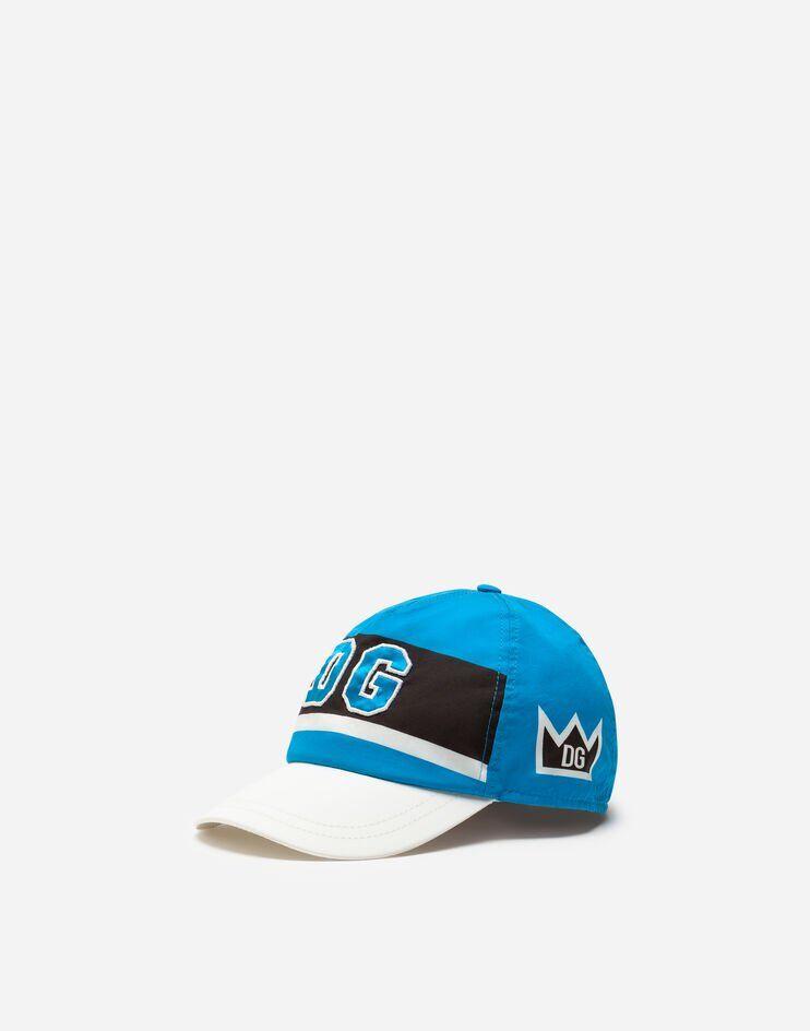 Cappello Da Baseball In Popeline Patch Dg - Dolce & Gabbana Junior