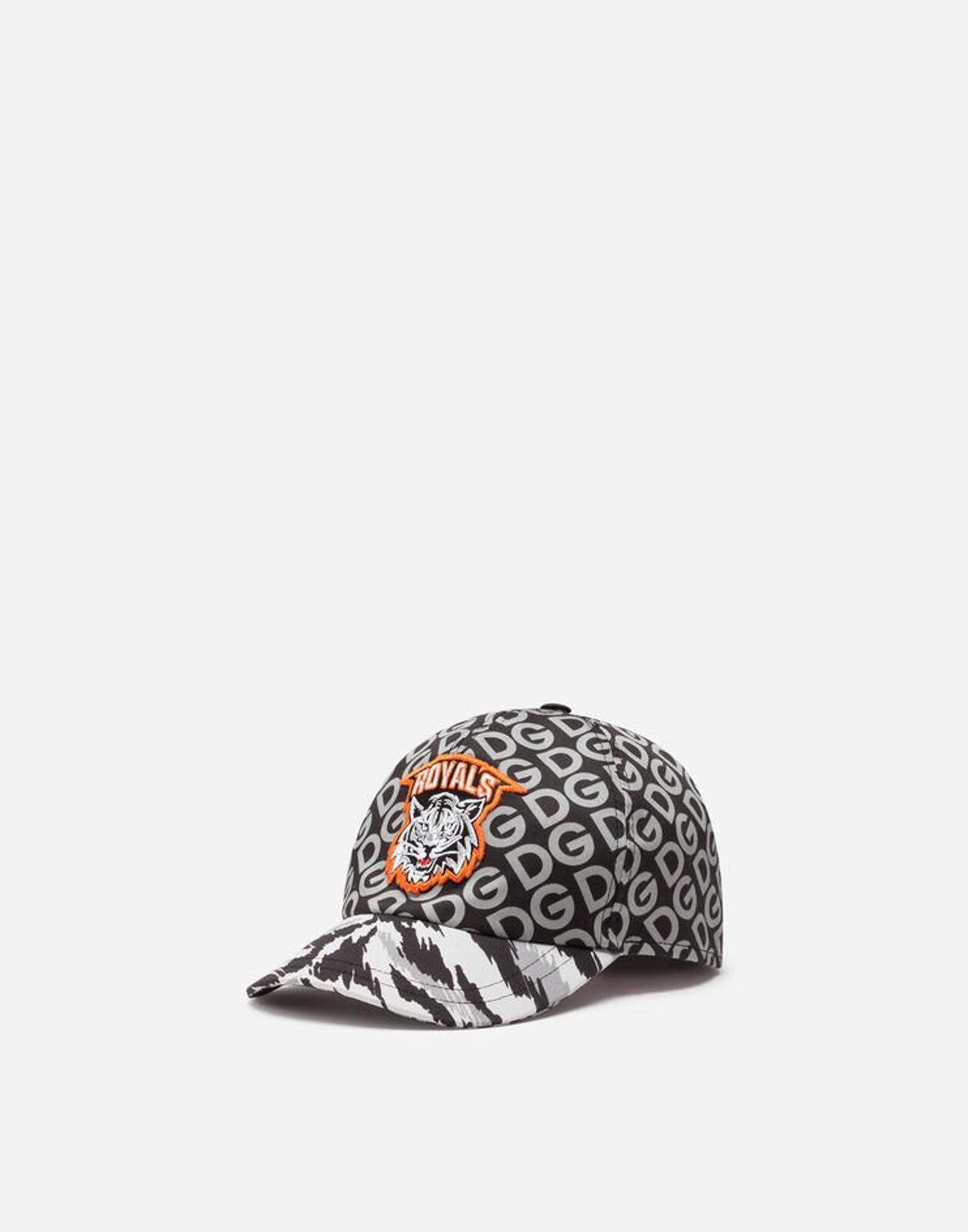 Cappello Da Baseball In Drill Stampa Dg Logo - Dolce & Gabbana Junior