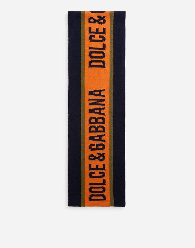 Sciarpa In Lana Rasata Con Intarsio Logo - Dolce & Gabbana Junior