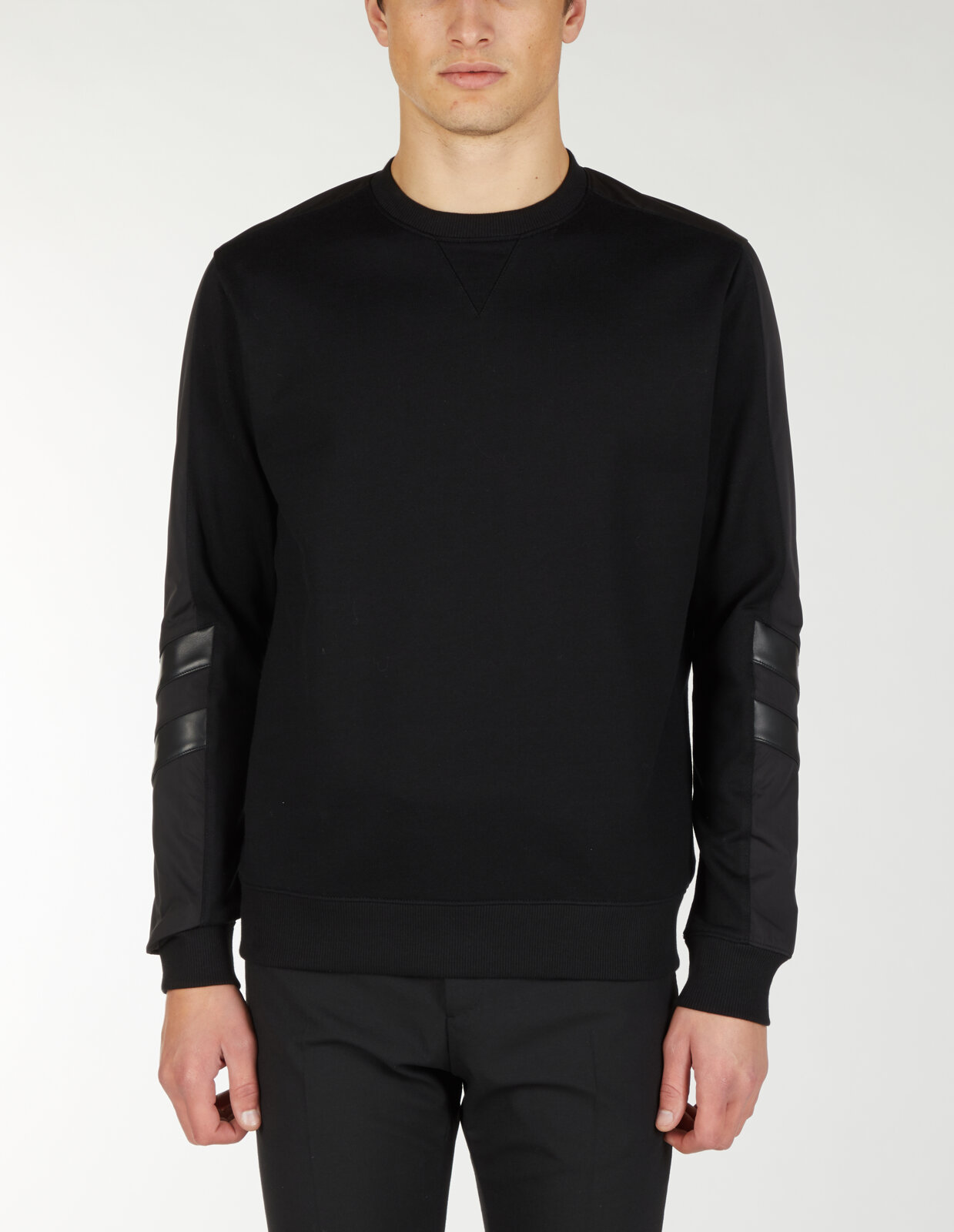 Sweatshirt With Sleeves Contrast Fabrics - Les Hommes
