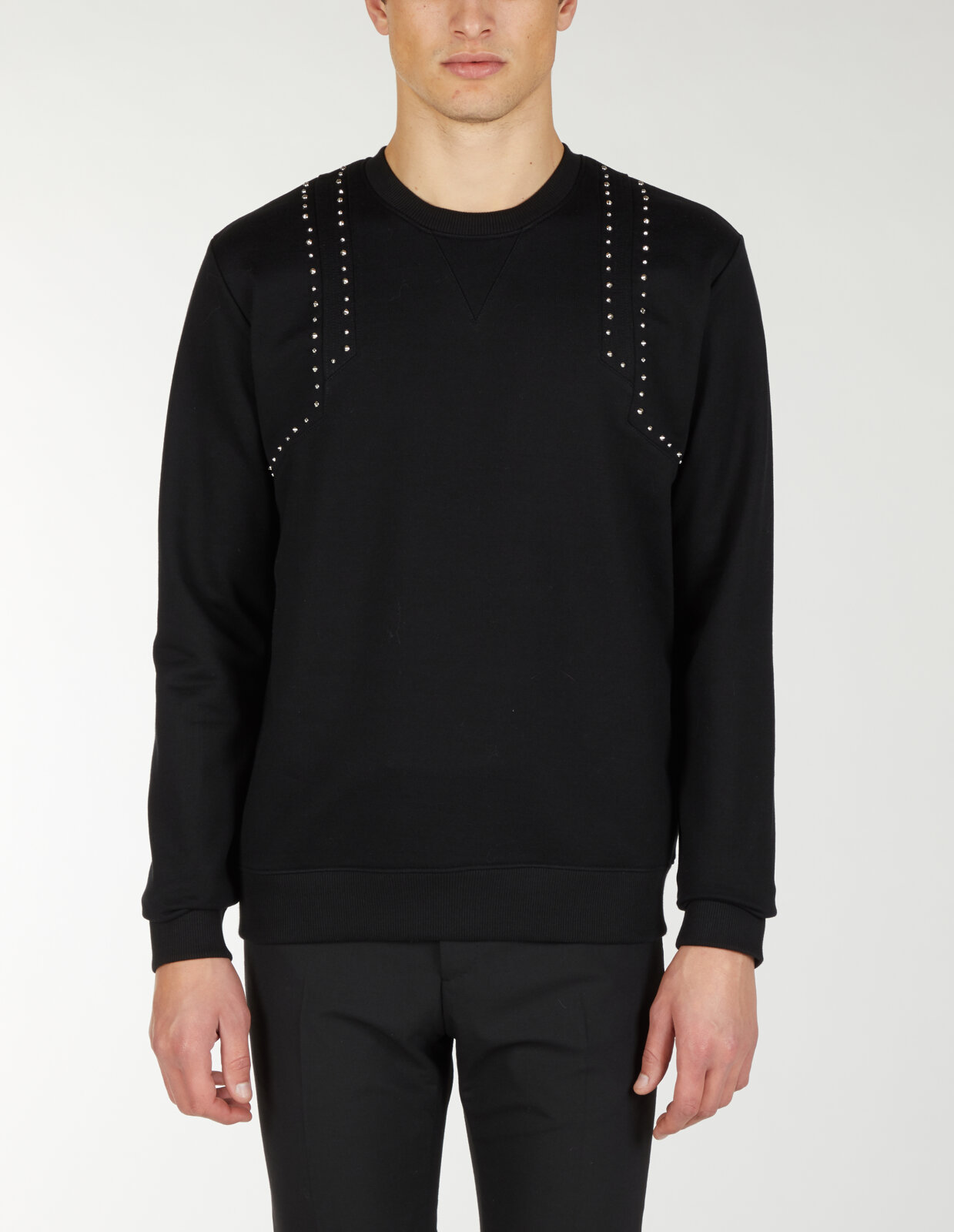 Sweatshirt With Studs - Les Hommes