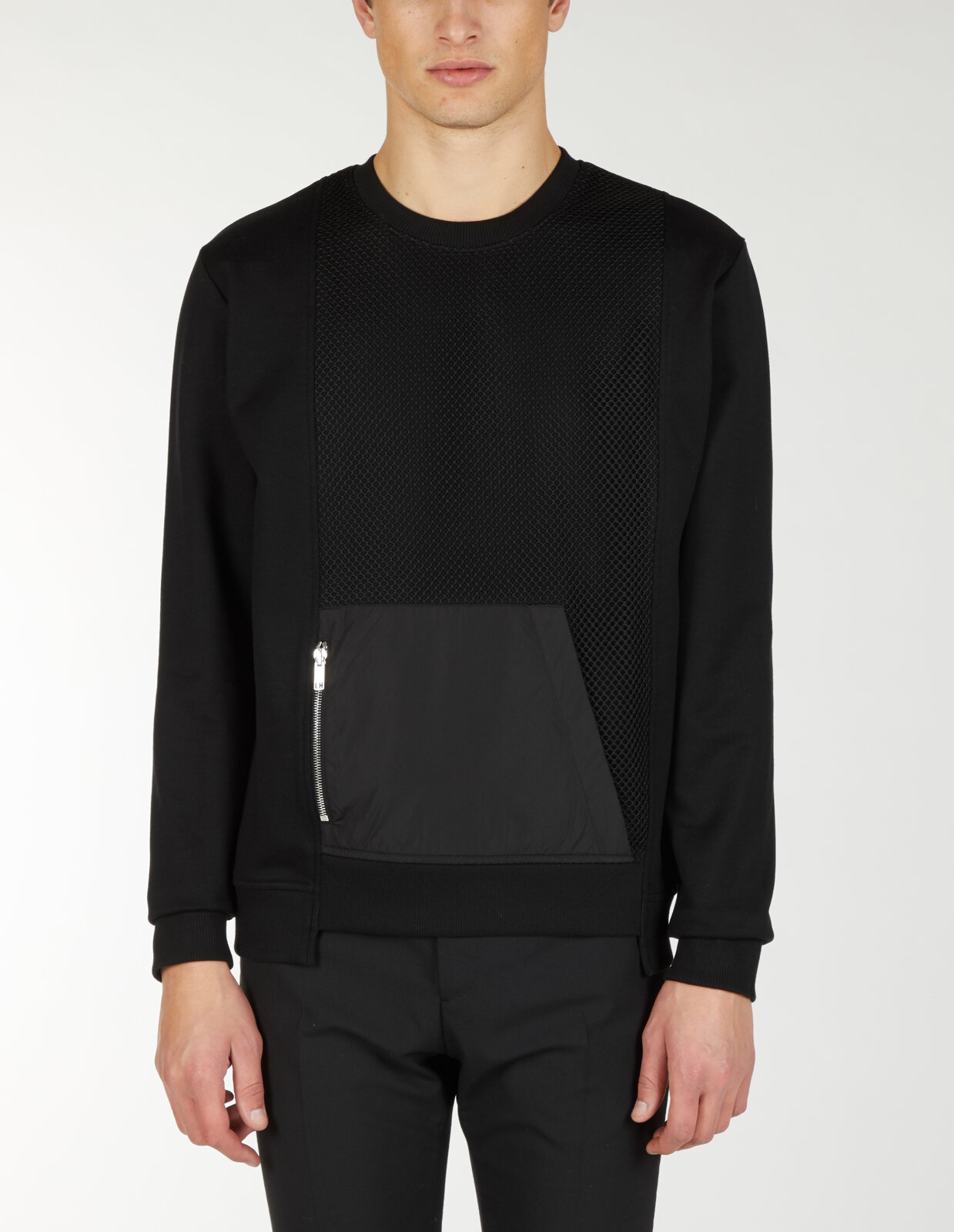 Sweatshirt With Front Pannel Contrast - Les Hommes
