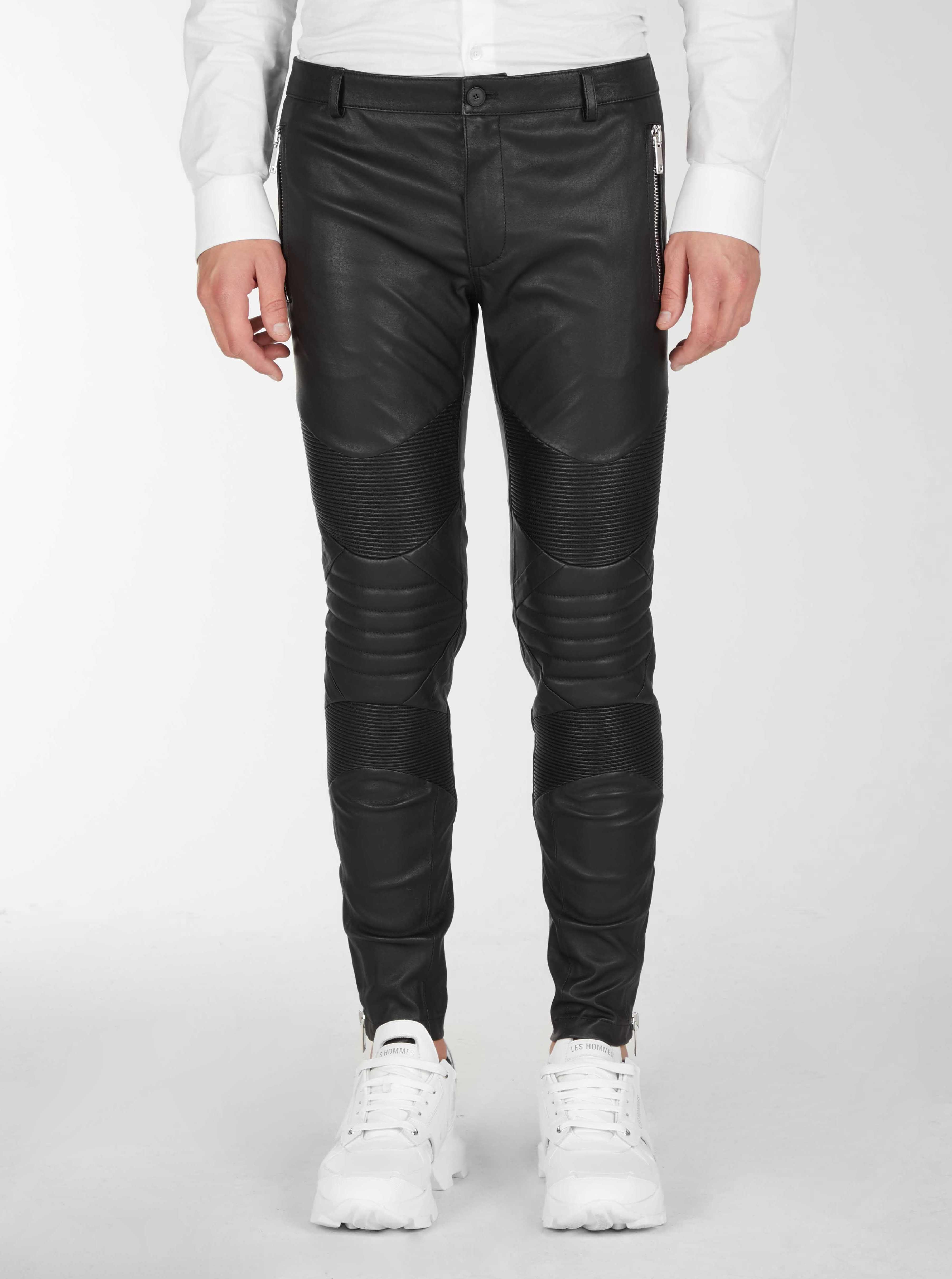 Pantaloni da motociclista in pelle - Les Hommes