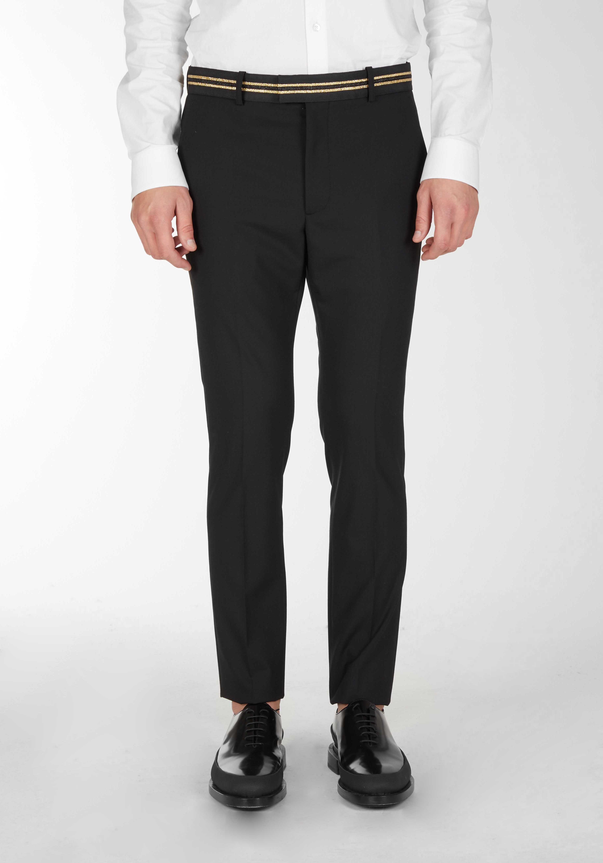 Pantaloni Classici Con Dettaglio Nastro In Vita - Les Hommes