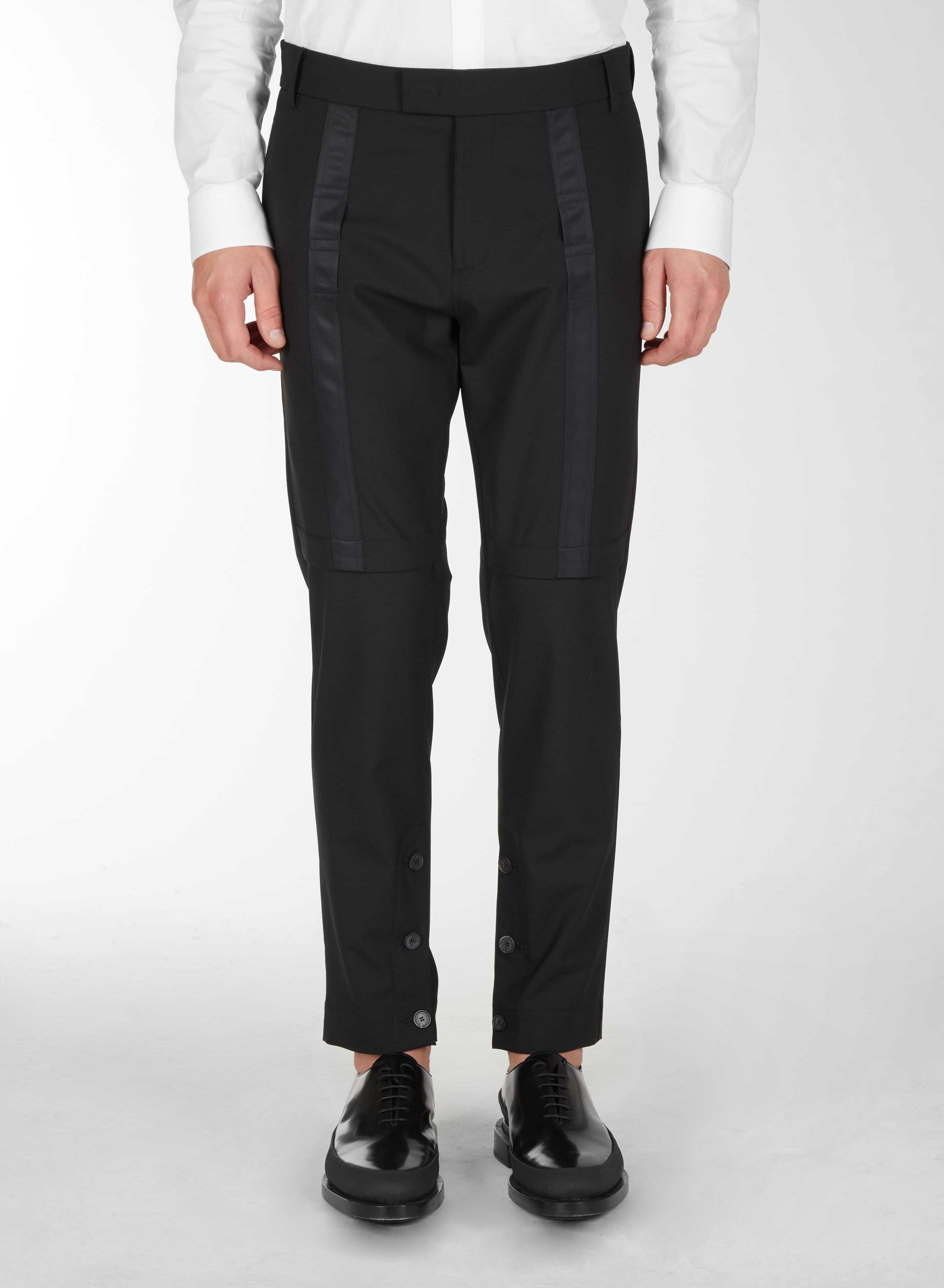 Pantaloni Classici Con Applicazione Frontale - Les Hommes