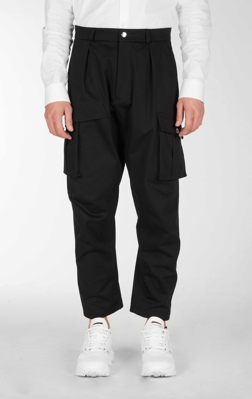 Pantaloni casual a cavallo basso con grandi tasche - Les Hommes