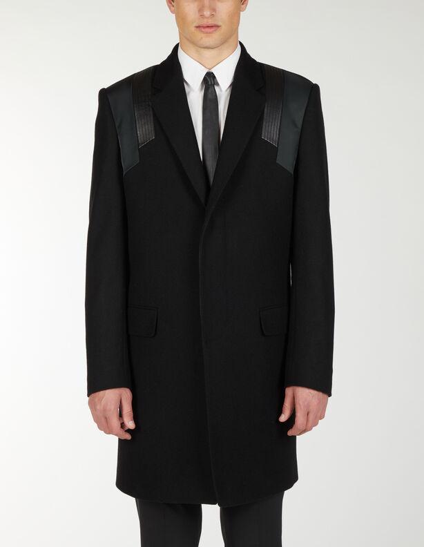 Coat With Shoulder Details - Les Hommes