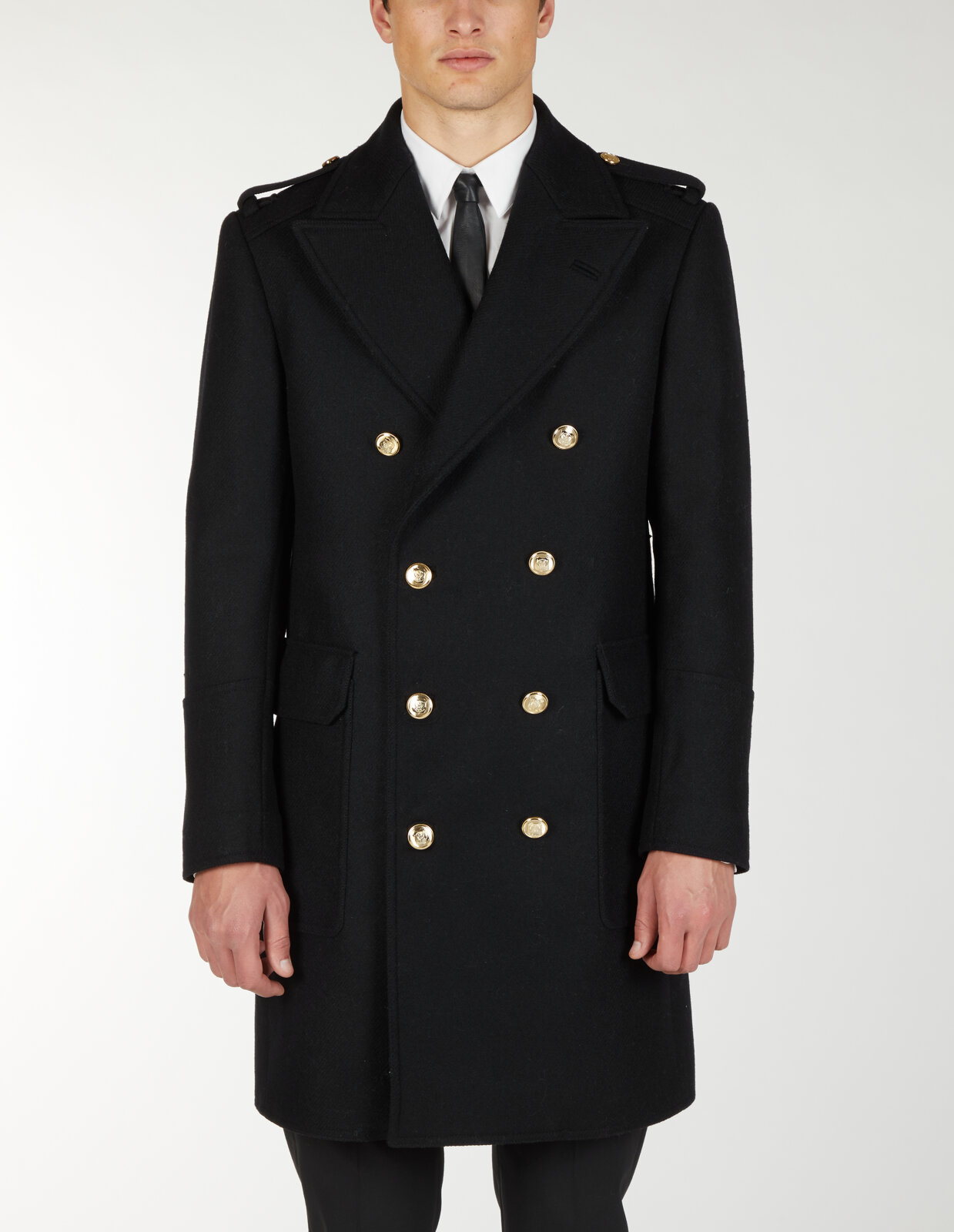 Coat With Military Buttons - Les Hommes