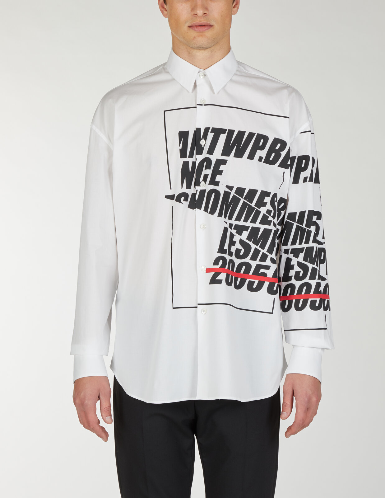 Camicia oversize con stampa Les Hommes Antwerp - Les Hommes