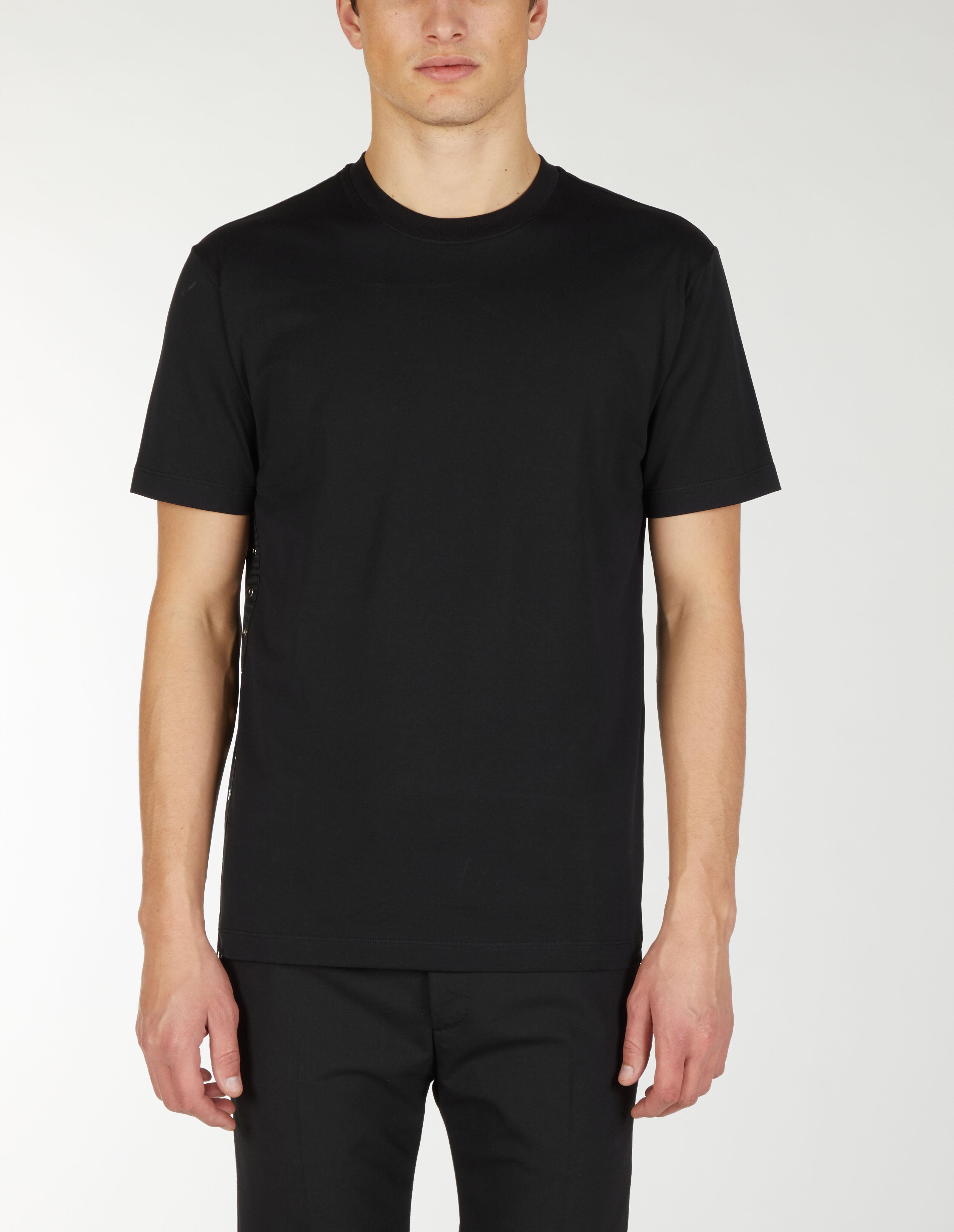 T-Shirt Con Borchie Sul Lato - Les Hommes