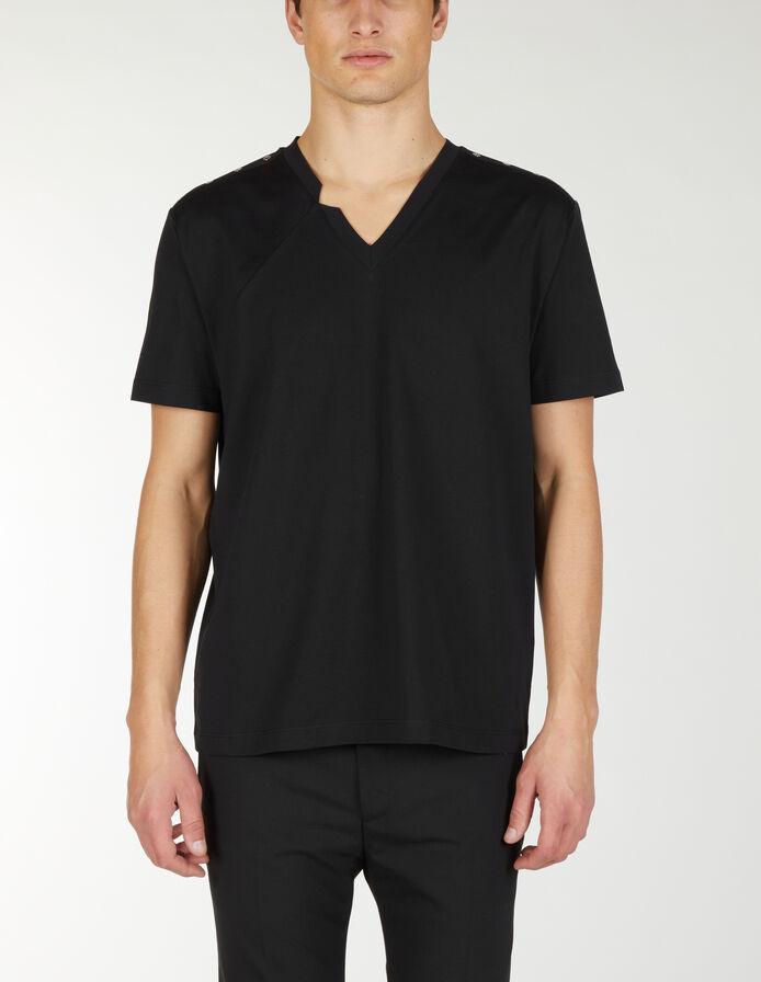 T-shirt con scollo a V. - Les Hommes