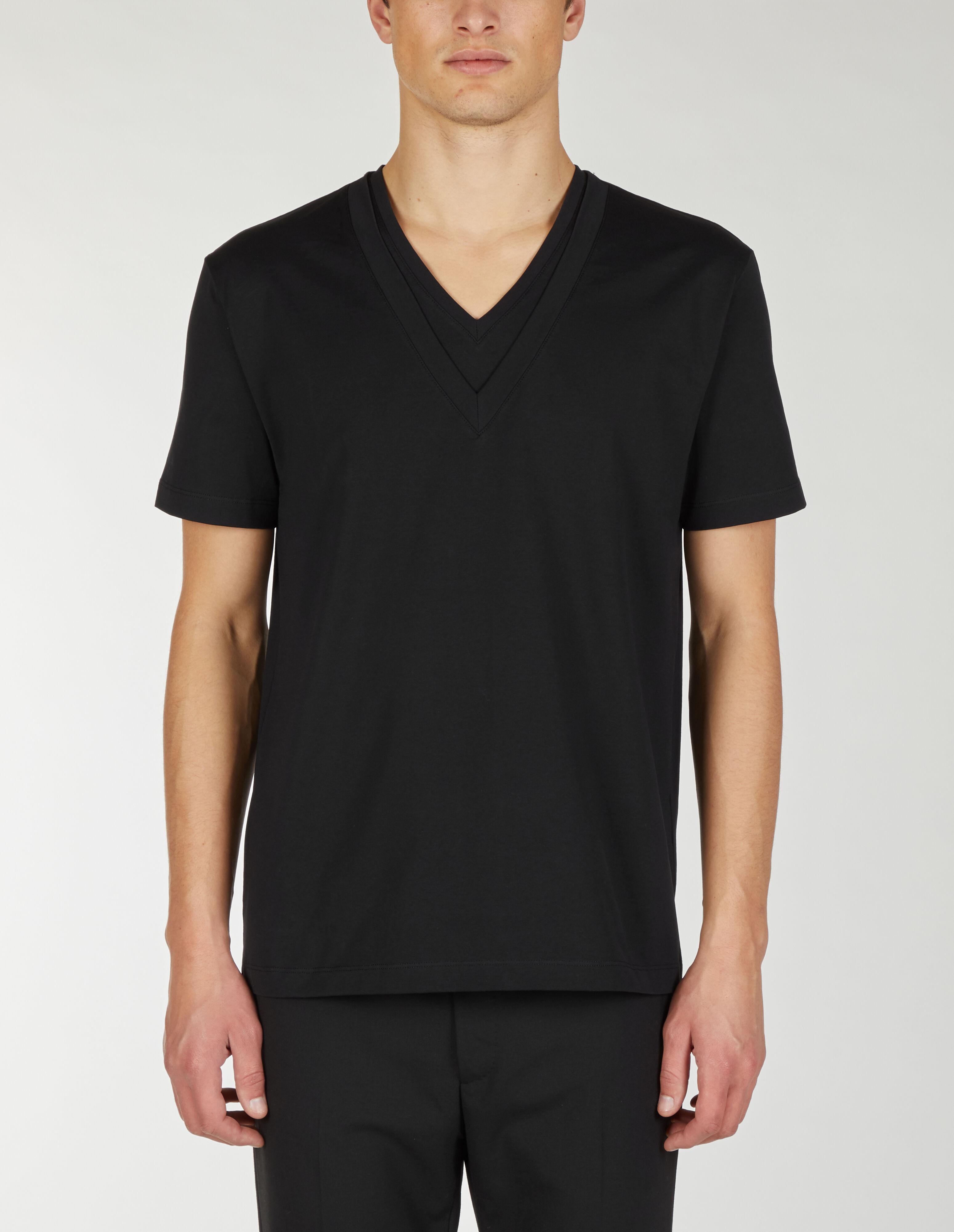 T-shirt con doppio scollo a V. - Les Hommes