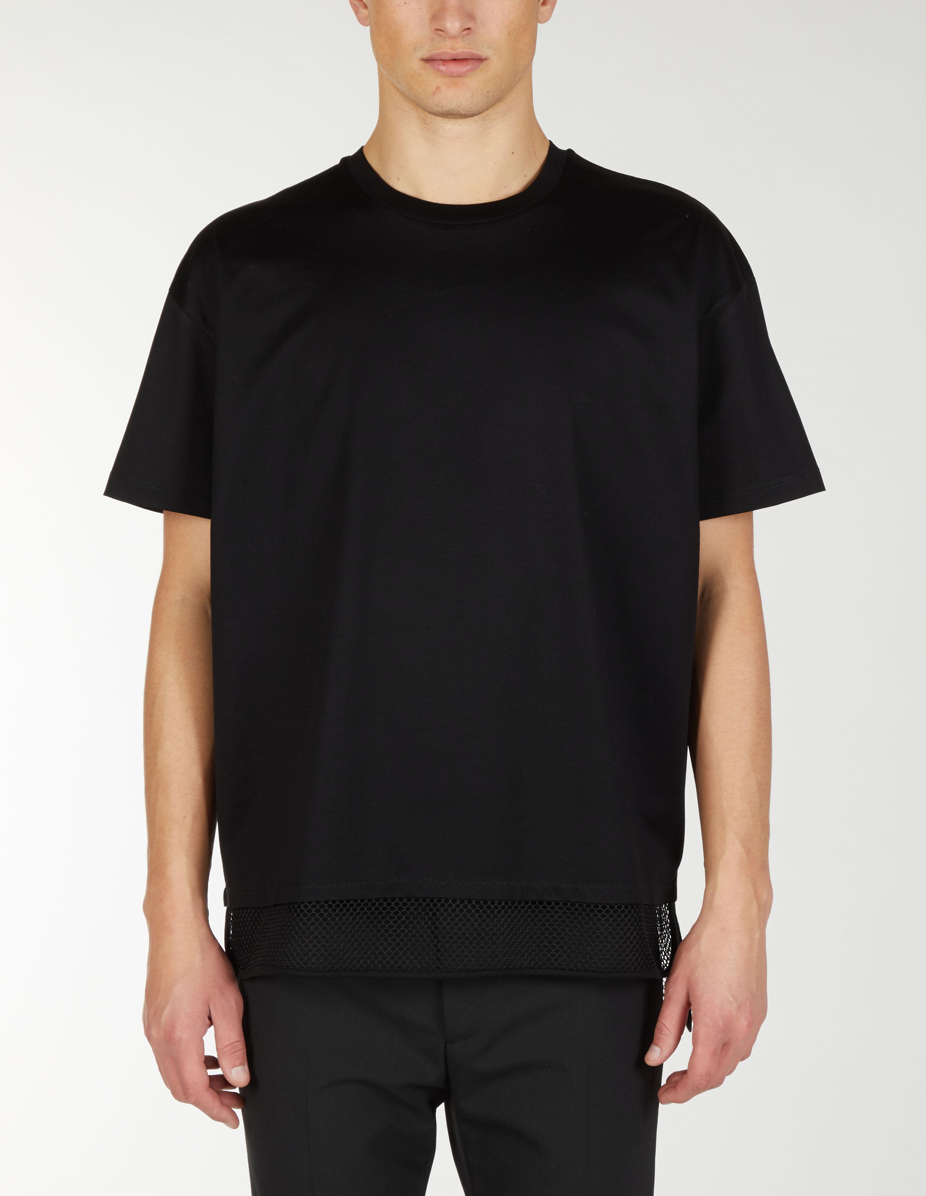 T-shirt oversize con coda in rete - Les Hommes