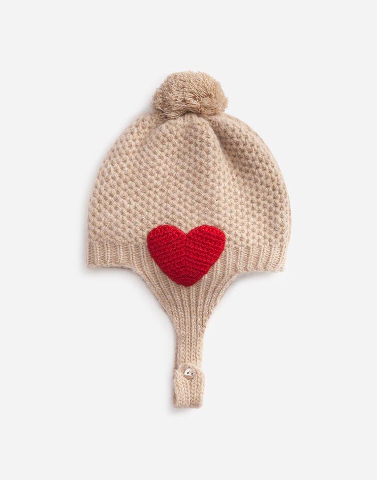 Cappello In Maglia Patch Dg - Dolce & Gabbana Junior