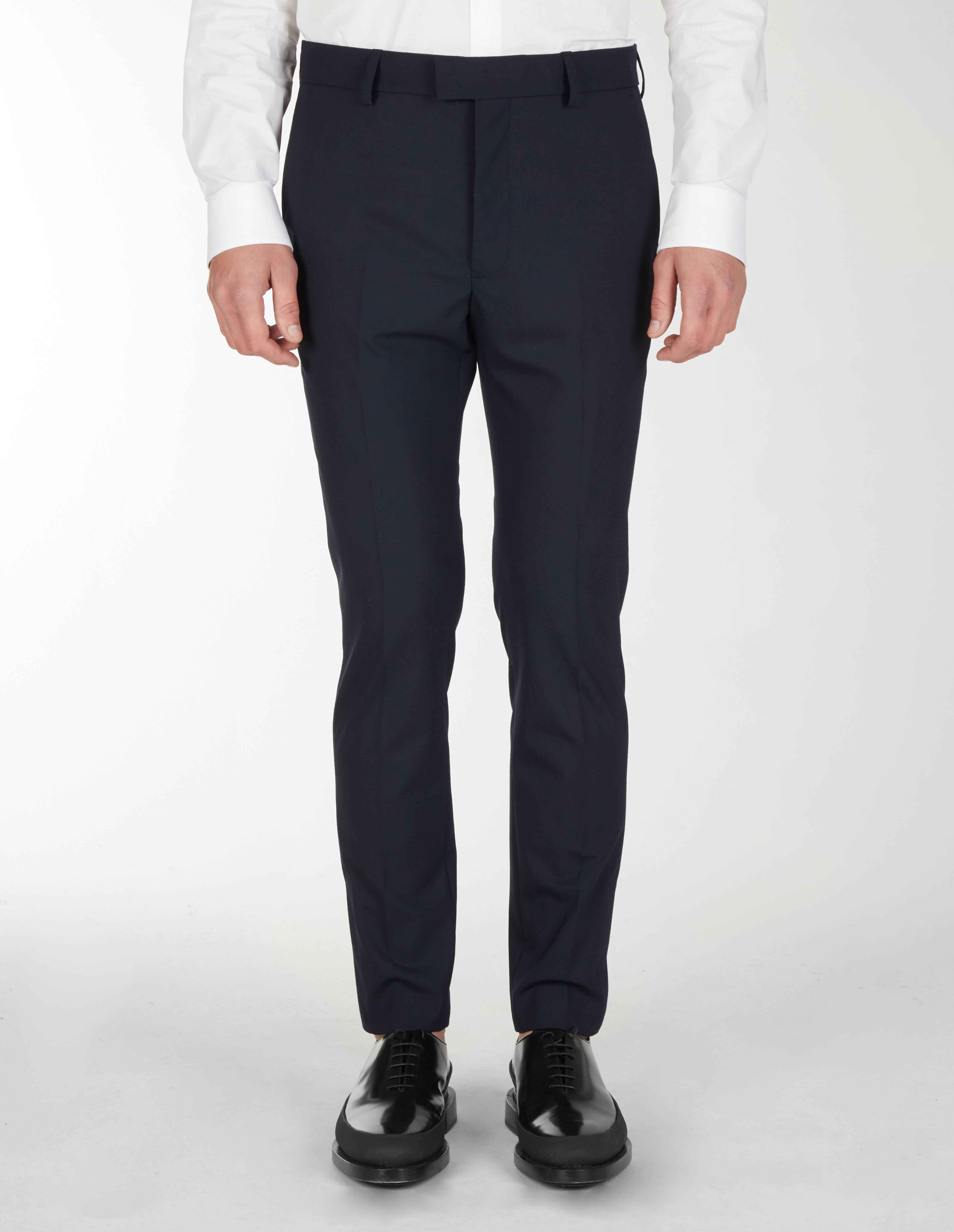 Pantaloni Classici Con Tagli Verticali E Velcro Sul Fondo - Les Hommes