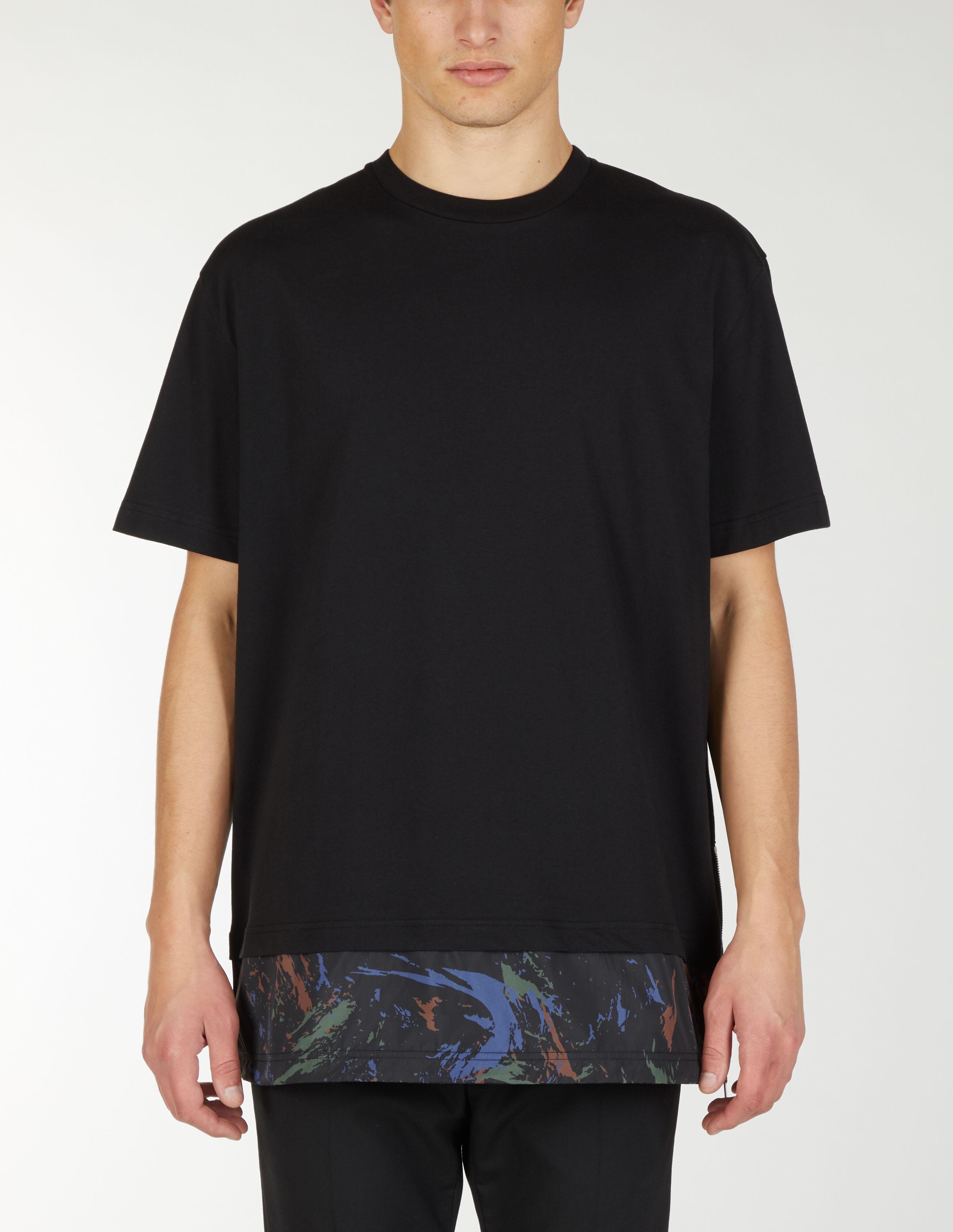 T-Shirt Oversize Con Doppio Strato Di Nylon - Les Hommes