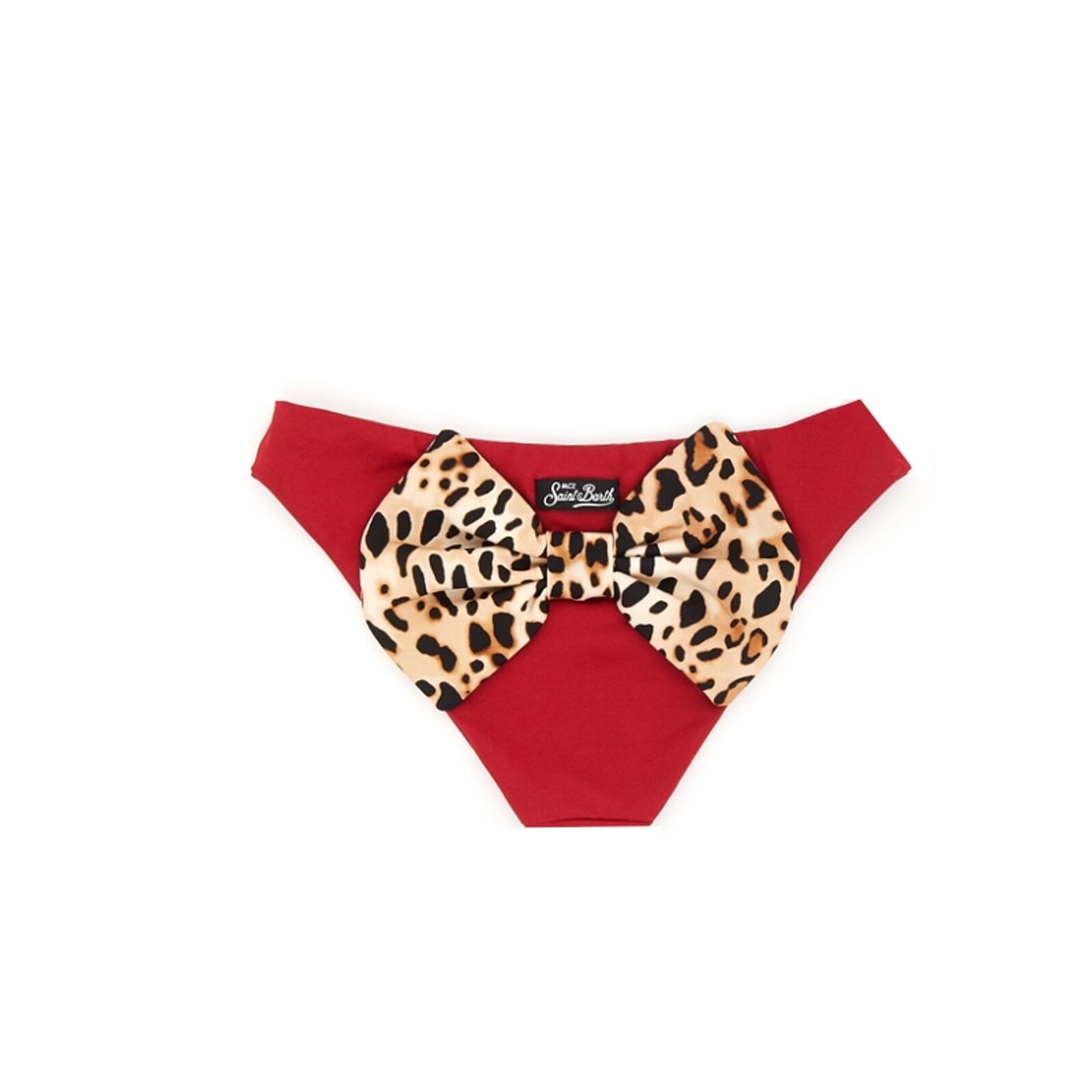 Slip Bordeaux Con Fiocco Animalier - MC2 Saint Barth Junior