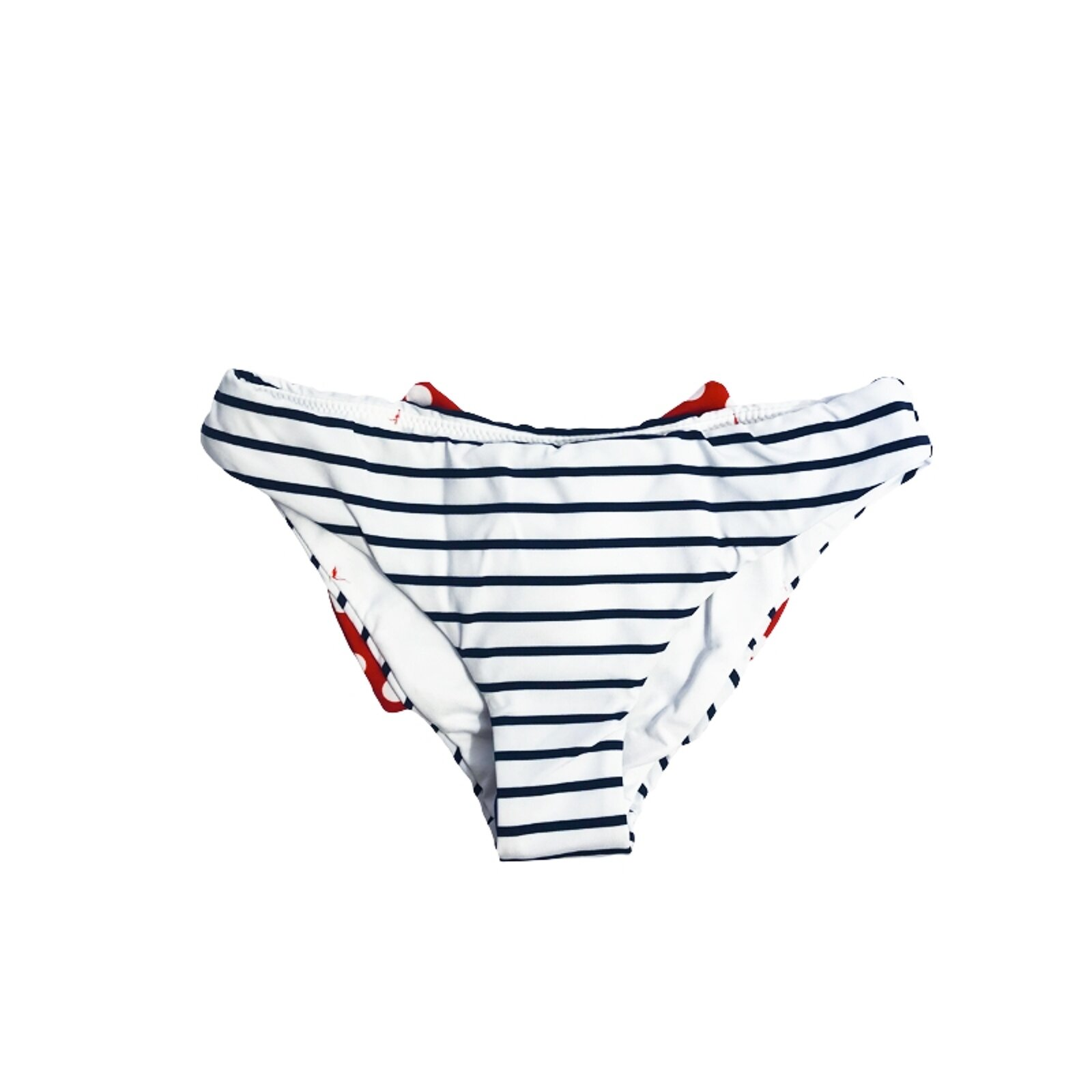 Slip Mare Bimba Fantasia A Righe Blu Navy - MC2 Saint Barth Junior