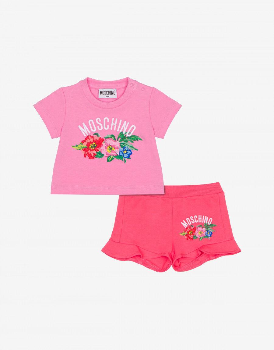 Completo T-Shirt E Short Begonia Flowers - Moschino Junior