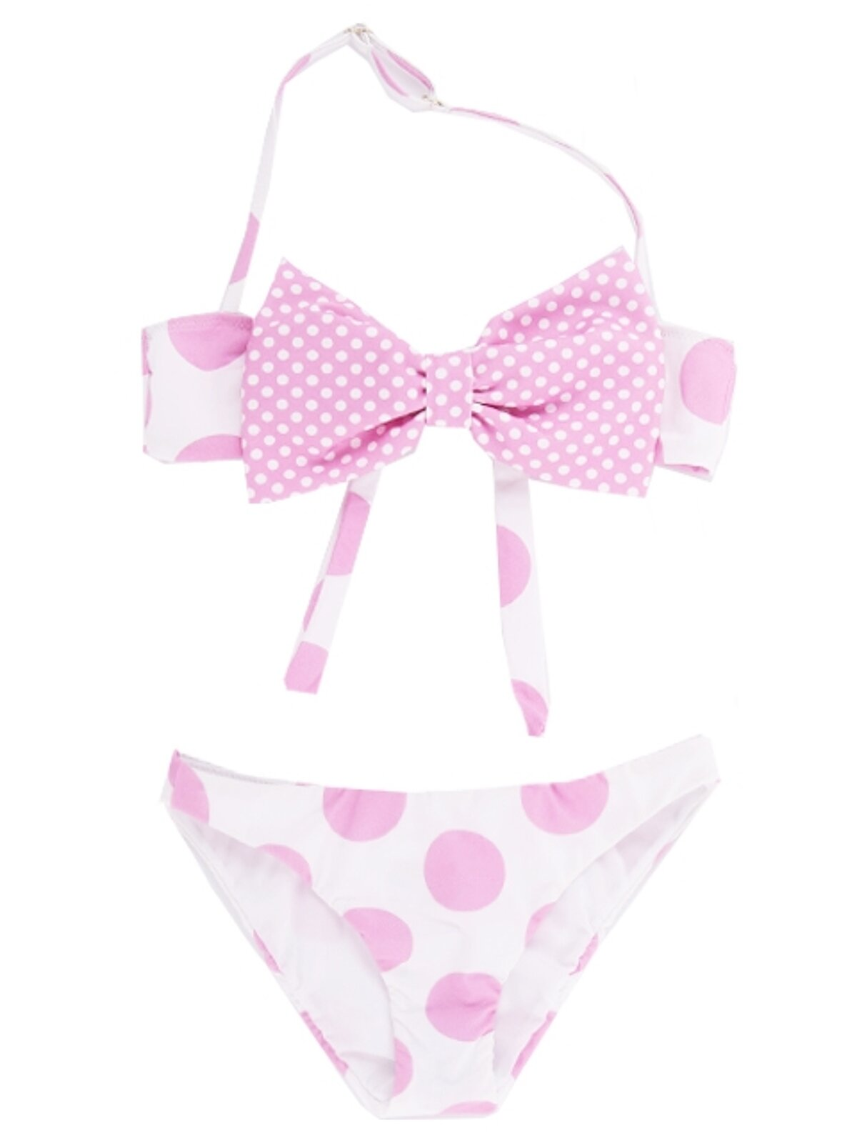 Bikini A Pois Con Fiocco - MC2 Saint Barth Junior