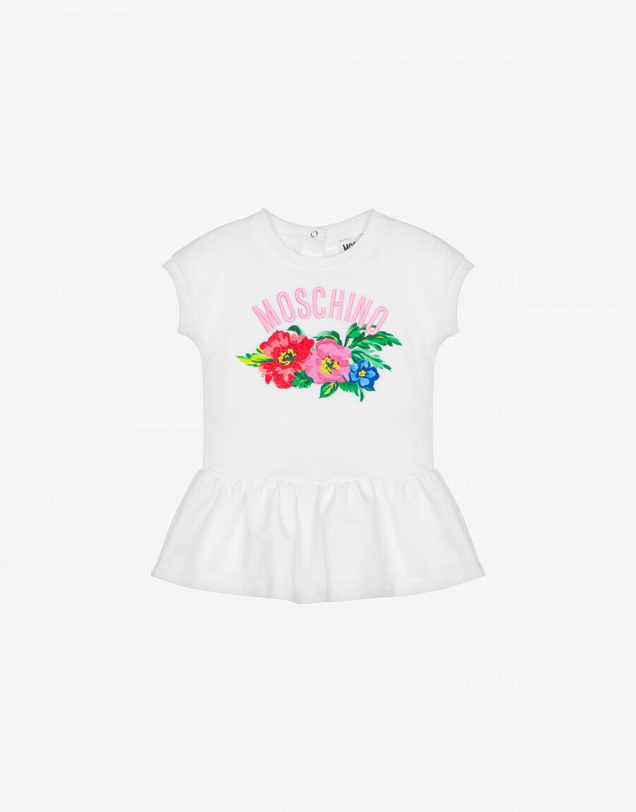 Abito In Felpa Begonia Flowers - Moschino Junior