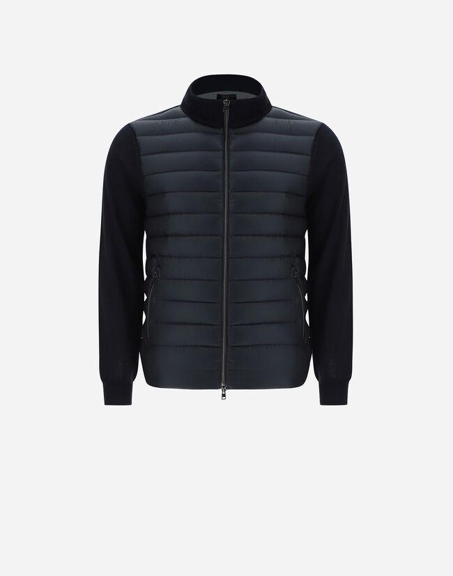 Bomber Jacket In Wool-Silk And Ultralight Nylon - Herno