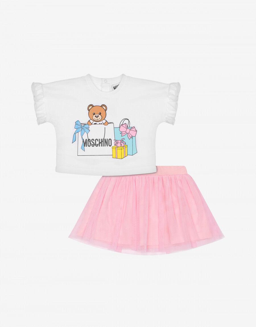 Completo T-Shirt E Gonna Shopping Teddy Bear - Moschino Junior