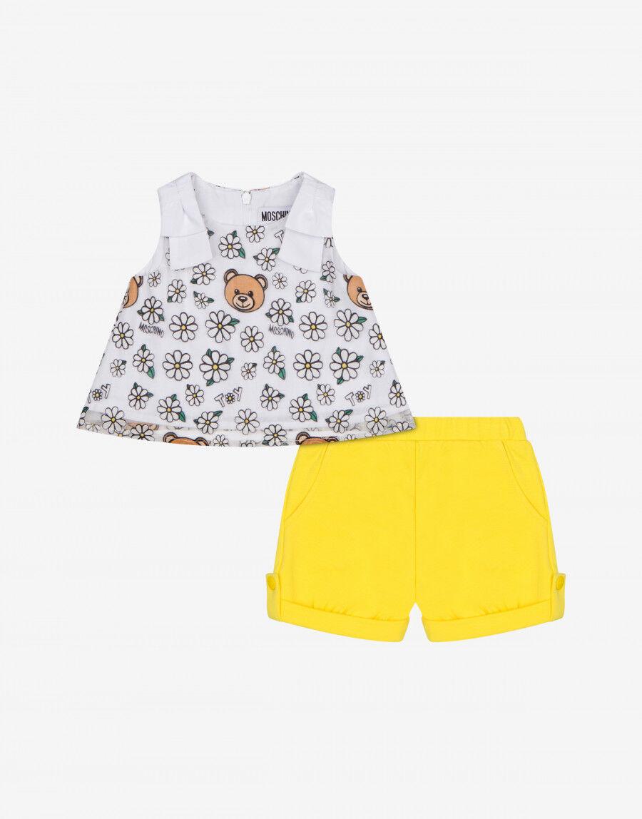 Completo Top E Short Daisy Teddy Bear - Moschino Junior