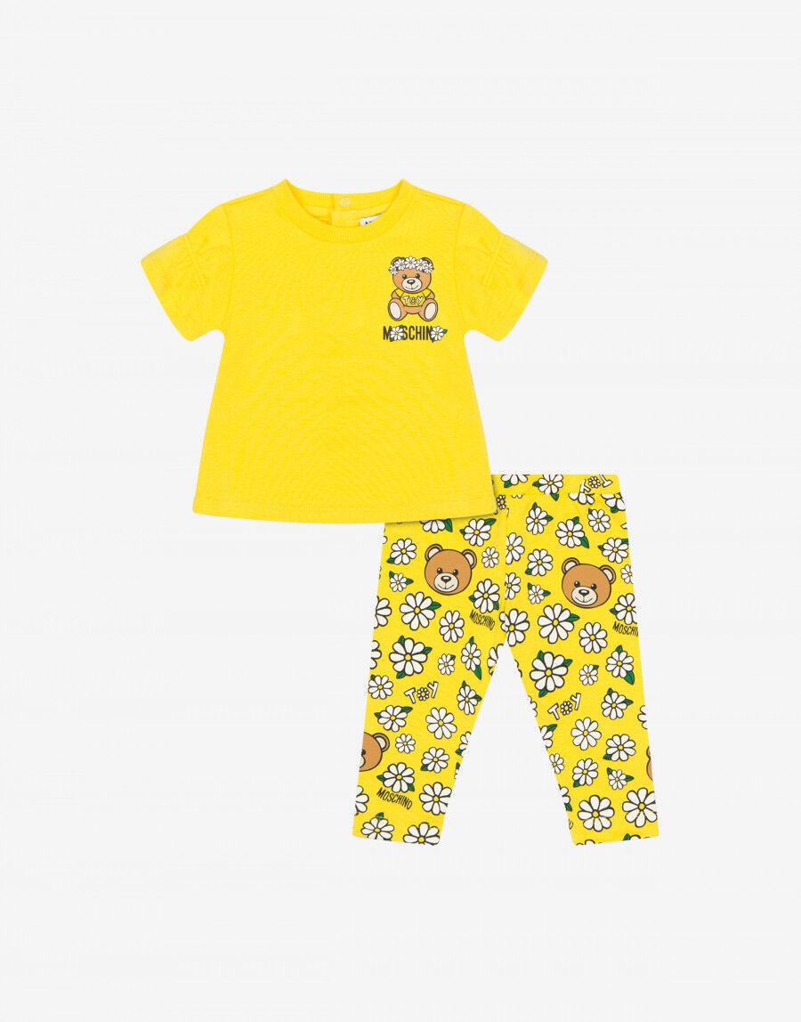 Completo T-Shirt E Leggings Daisy Teddy Bear - Moschino Junior
