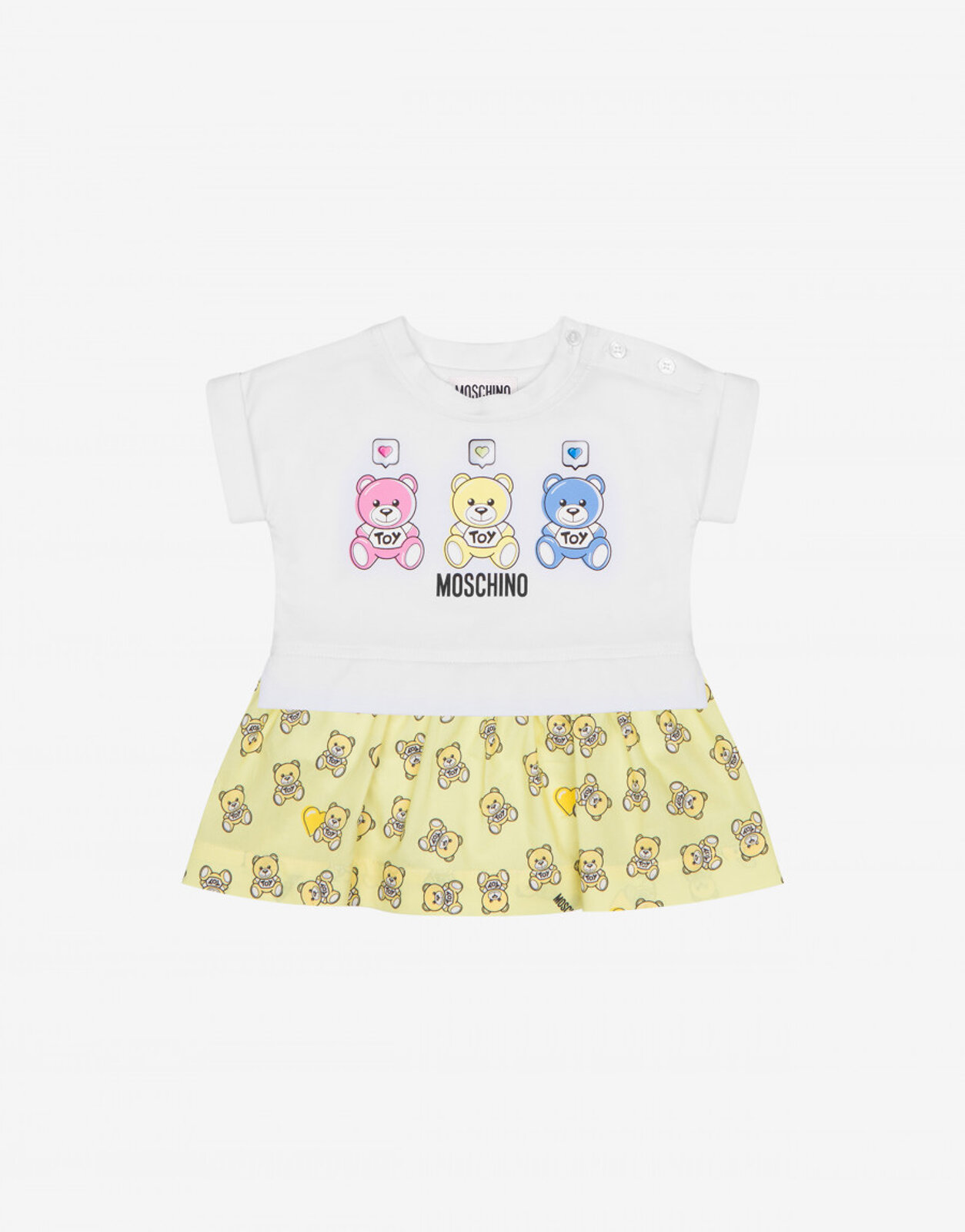 Abito In Jersey Heart Comment Teddy Bear - Moschino Junior