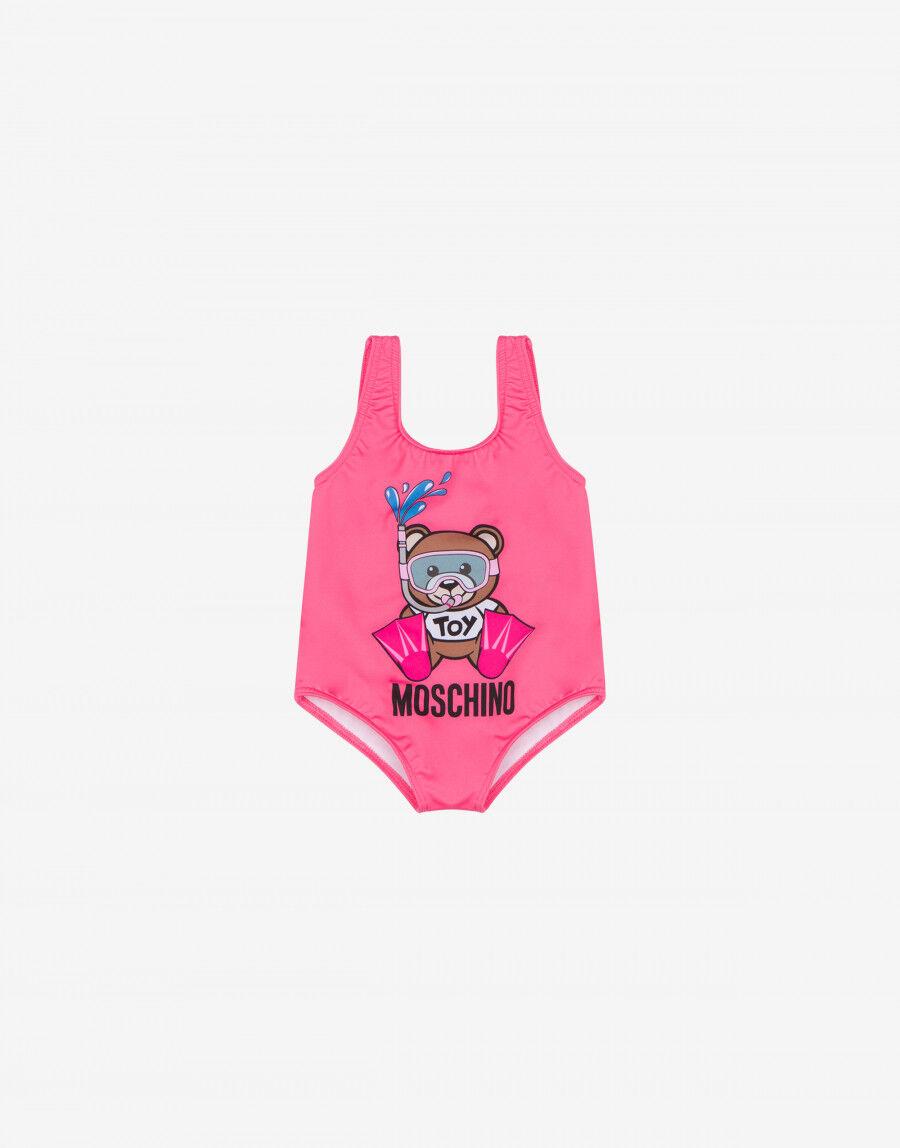 Costume Intero In Lycra Swimmer Teddy Bear - Moschino Junior