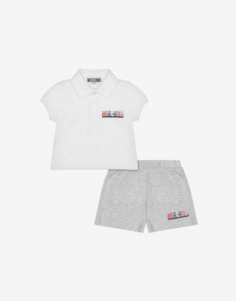 Completo Polo E Short Multicolor Logo - Moschino Junior