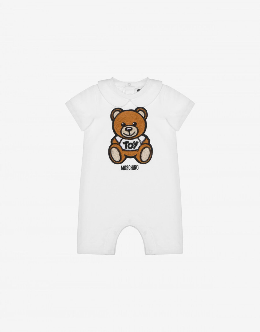 Tutina Corta Teddy Embroidery - Moschino Junior
