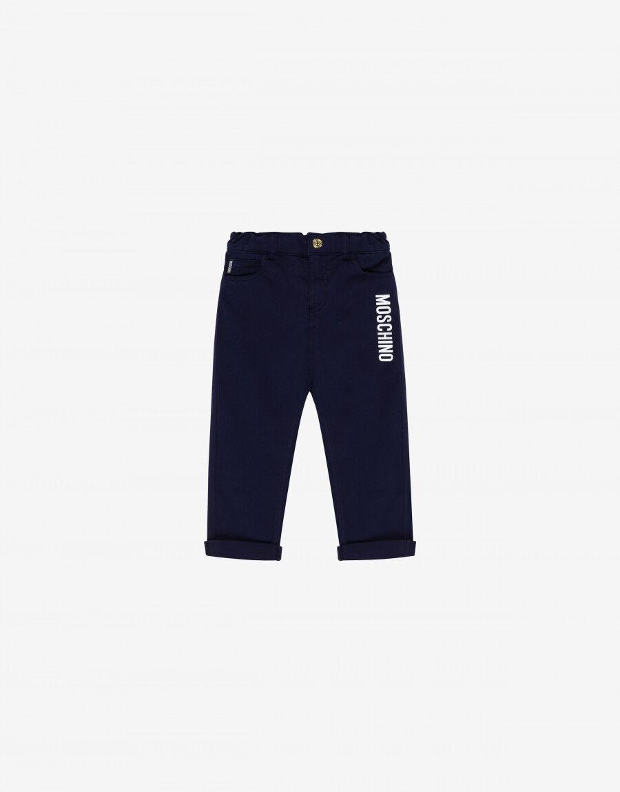 Pantalone Cinque Tasche Con Logo - Moschino Junior