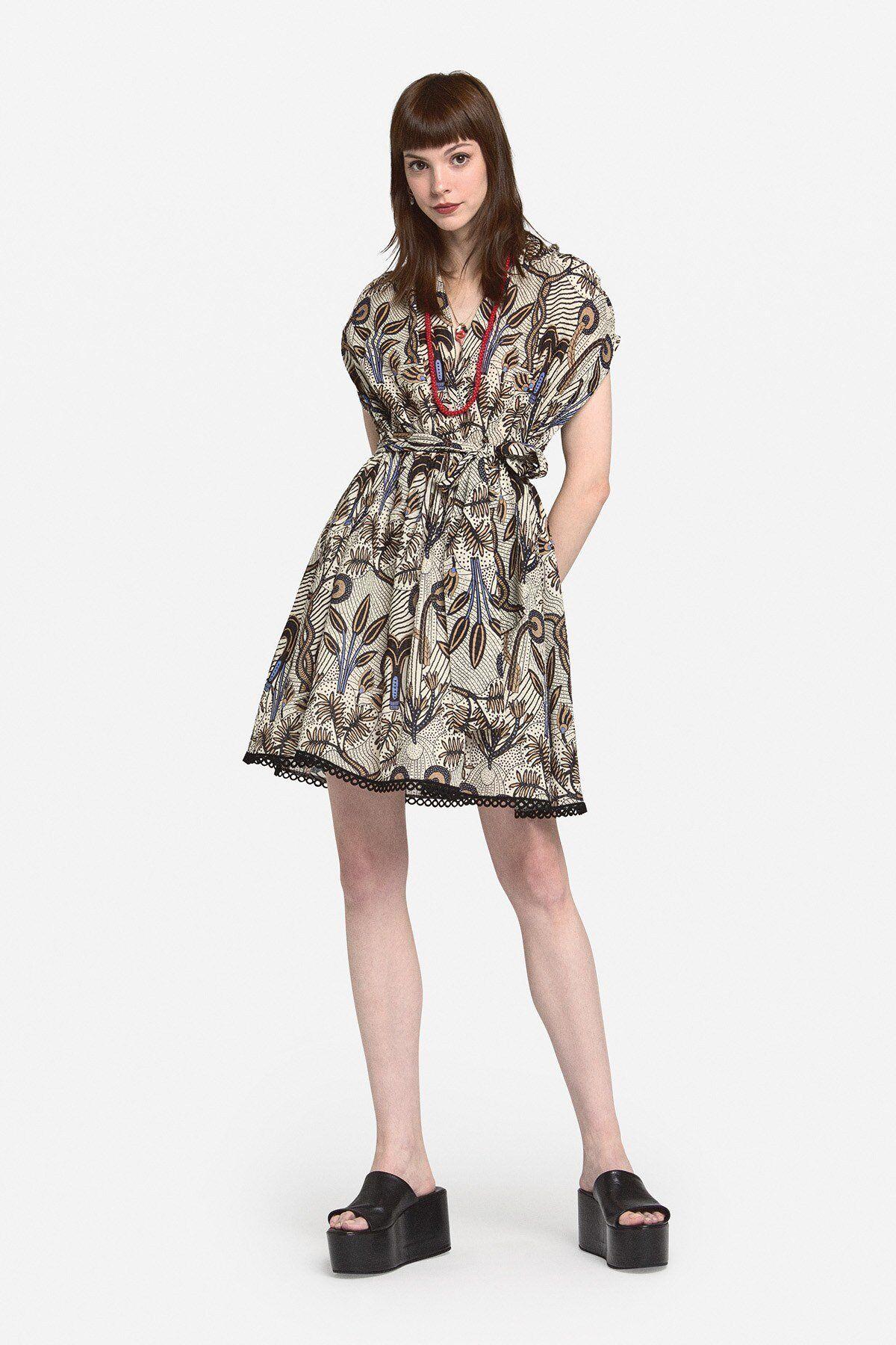 Mini Cotton Dress With Sash - ottod'Ame