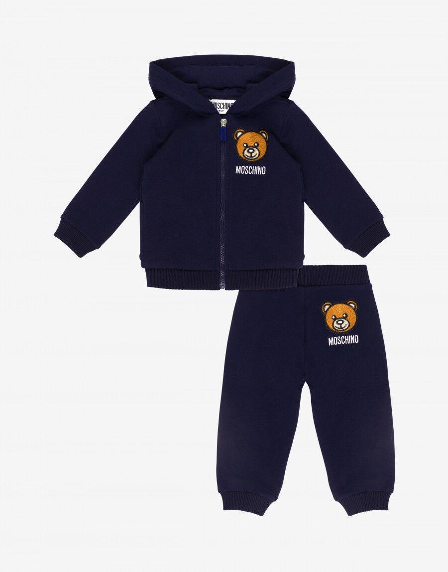 Completo Tuta In Felpa Teddy Embroidery - Moschino Junior
