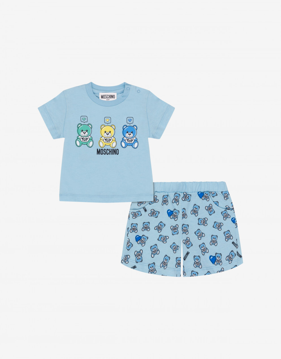 Completo T-Shirt E Short Lovely Teddy Bear - Moschino Junior
