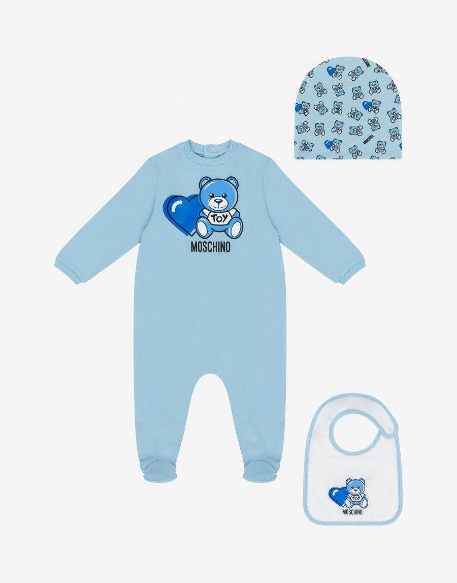 Set Tutina, Cappello E Bavaglino Lovely Teddy Bear - Moschino Junior