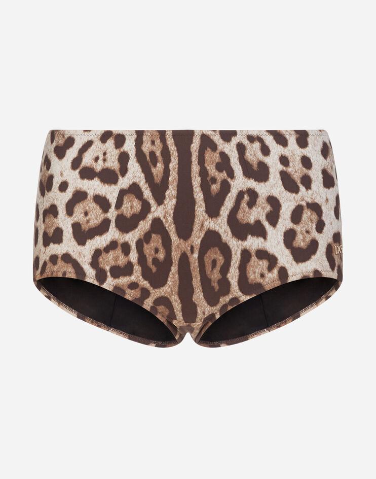 Culotte Da Mare Stampa Leopardo - Dolce & Gabbana