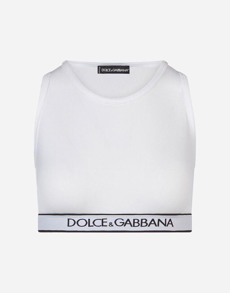 Top In Jersey Con Banda Logata - Dolce & Gabbana