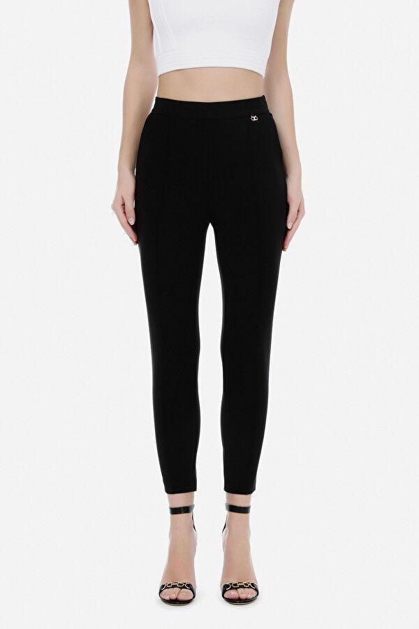 Pantalone Dritto Con Charm Elisabetta Franchi - Elisabetta Franchi