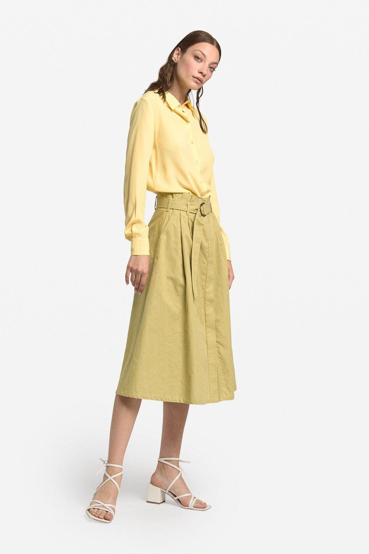 Cotton Midi Skirt - ottod'Ame