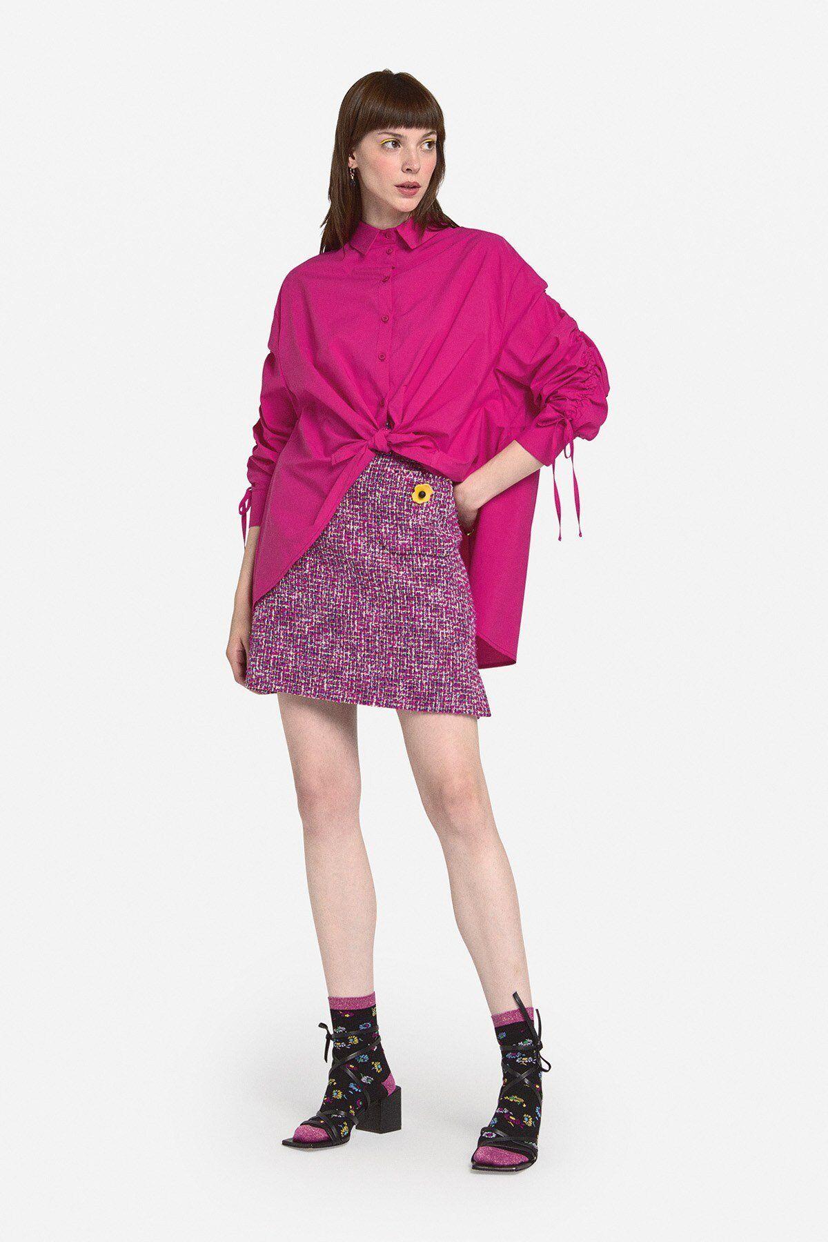 Camicia Con Nodo In Popeline - ottod'Ame